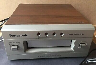 Vintage Panasonic 8 Track Player Model RS-853 in box
