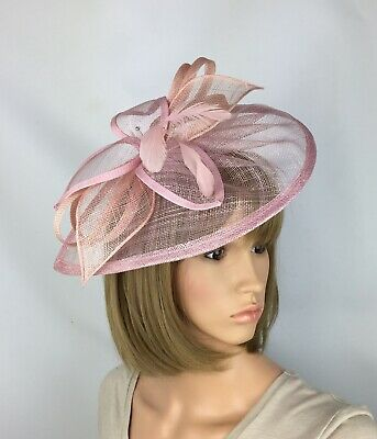 Blush Pale Pink Fascinator Wedding Occasion Hatinator Mother Of The Bride Races