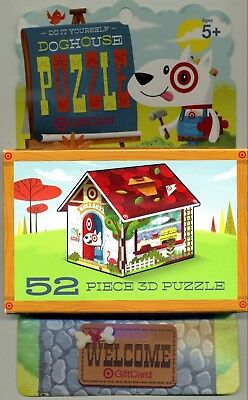 RETIRED TARGET TOY 3D 52 PIECE PUZZLE Ltd. ED. GIFT CARD GAME
