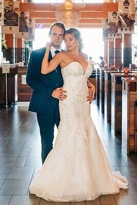 Strapless Wedding Dress BRAND NEW Size 12 Gown Lace Beading