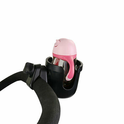Flexible Black Stroller Cup Holder Baby Kids Easy Install for Trolleys Bicycle
