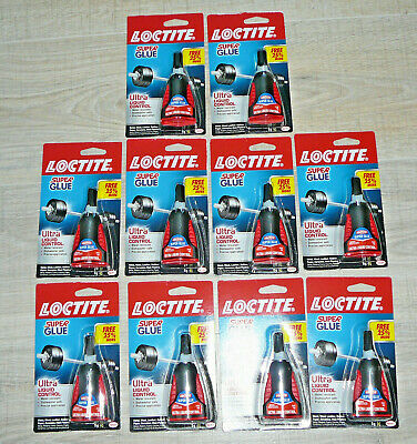 Lot Loctite Super Glue Ultra Liquid Control 5 g Each