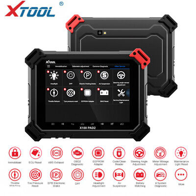XTOOL X100 PAD2 Tablet Programmer Immobilizer EEPROM EPB EUC TPMS Airbag Reset