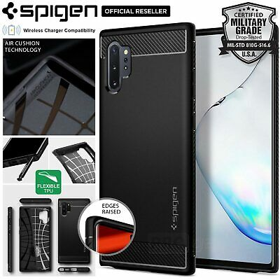 [FREE EXPRESS] Galaxy Note 10 Plus 5G Case Spigen Rugged Armor Cover for Samsung