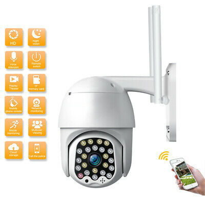 1080P HD IP CCTV Camera Waterproof Outdoor WiFi PTZ Security Wireless IR Cam USA