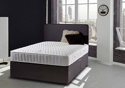 BLACK-MEMORY-FOAM-DIVAN-BED-SET-WITH-MATTRESS-AND-HEADBOARD-3FT-4FT6-Double-5FT