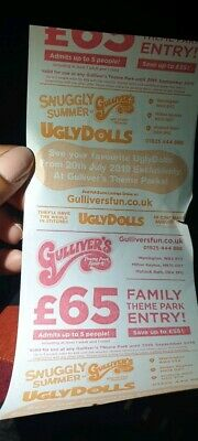 Gullivers Theme Park Resorts Family Discount Voucher ticket price per family £65