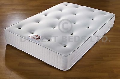 "12"" Memory Foam Semi Orthopaedic Mattress Double 4Ft6 5Ft King Size Damask Cover"