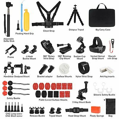 69 in 1 Action Camera Accessories Kit Head Chest Mount for GoPro Hero 7 6 5 4 3