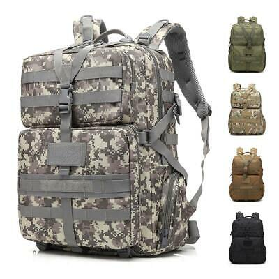 45L Outdoor Military Tactical Camping Hiking Backpack Lagrge Shoulders Bag