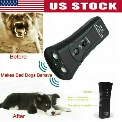 Ultrasonic Anti Dog Barking Pet Trainer LED Light Gentle Chaser, Petgentle Style