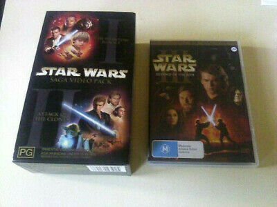 Vhs Rare Find ( Star Wars Episode 1 And 11 Saga Box Pack ) And 111 The Sith Dvd