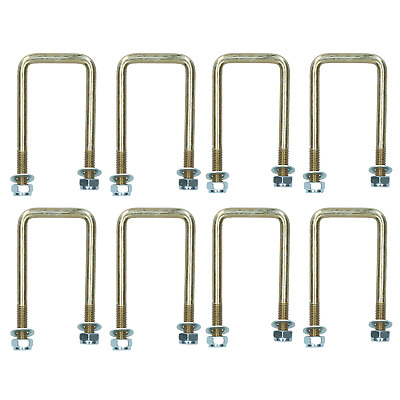 8 Pack M10 50mm x 100mm U-Bolt N-Bolt for Trailers with Nuts HIGH TENSILE