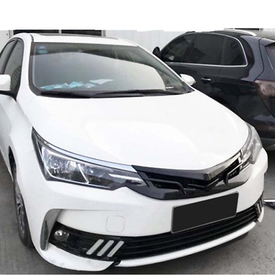 For 2017 2018 Toyota corolla TRD Black Mesh ABS Front Hood Grille Grill New