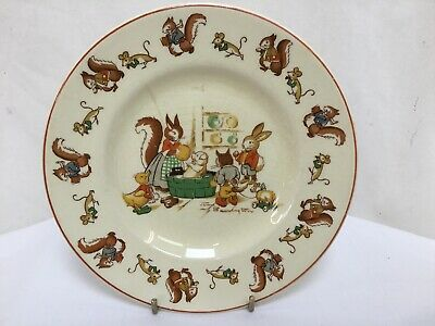 Rare Vintage Woods Ivory Ware Plate Signed Joan Barrington Number 11 Good Con