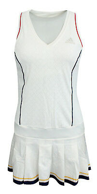 Adidas Pharrell Williams Ny Solide Femmes Robe de Tennis Short Blanc BQ9112 M14