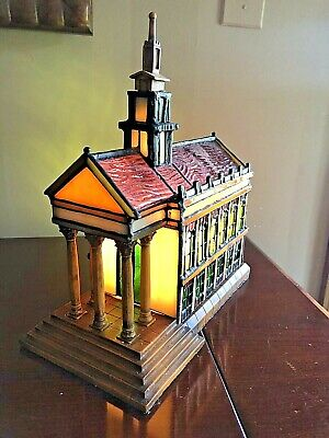 Tiffany Lamp Stained Glass Cathedral With Original Box