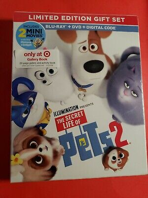 The Secret Life Of Pets 2 Target Exclusive (Bluray+DVD+Digital) Brand New Sealed