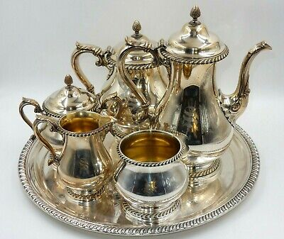 KENWOOD by GORHAM SILVERPLATE COFFEE / TEA SERVICE SET (6pc.)