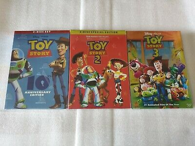 Toy Story Trilogy 1-3 DVD Bundle 1 2 3 Brand New Free Shipping!