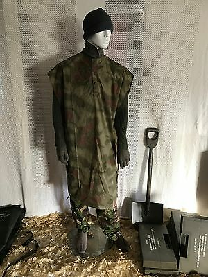 New vintage German  army poncho cape rain poncho water proof surplus military