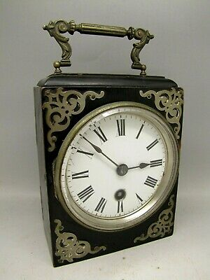 ANTIQUE MANTEL CARRIAGE CLOCK SCHULEN & BOBY IPSWICH  Japy Freres & Cie c 1880s