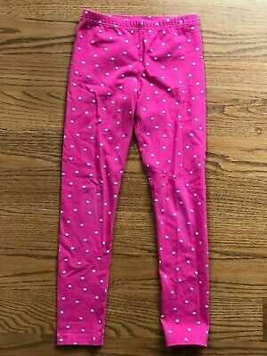 Carters Girls Pink Leggings Silver Stars Size 8 EUC