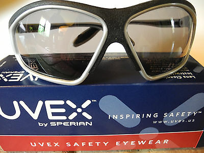 Black//Grey Uvex S1502 Bayonet Safety Eyewear