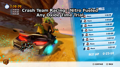 Crash Team Racing Nitro Fueled 🔥 CTR Any Map Oxide Time Trial ✅READ DESCRIPTION
