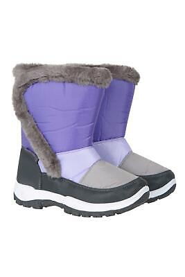 Mountain Warehouse Kids Snow Boots Water Resistant Lined Girls Boys Snowboots