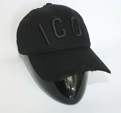 Brand New With Tags Dsquared2 Baseball Cap All Black Icon Fall/Winter 2019/2020