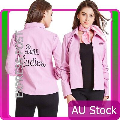 DELUXE LADIES GREASE Pink Lady Jacket Costume 50s 1950s 3