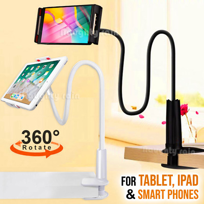 360° Rotating Tablet Tab Stand Holder Lazy Bed Desk Mount iPad iPhone Samsung