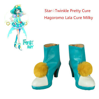 Star Twinkle Pretty Cosplay Shoes Hagoromo Lala Cure Milky Boots Anime Comic Con