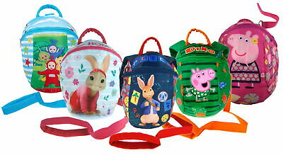 Boys Girls Character Backpack With Detachable Reins Toddlers Nursery Safety Bag