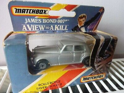 MATCHBOX Sealed Rolls Royce Silver Cloud II James Bond 007 A VIEW TO A KILL 1985