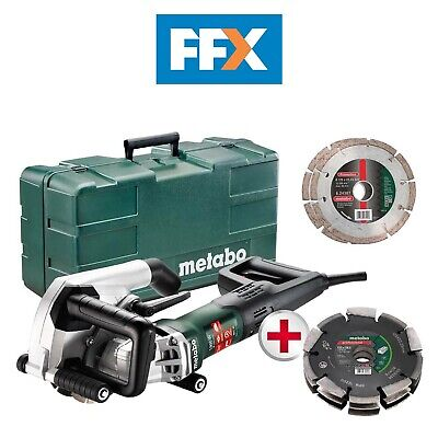 Metabo UK604040591 240v 40mm Wall Chaser 2x125mm Blades with Triple Cut Disc