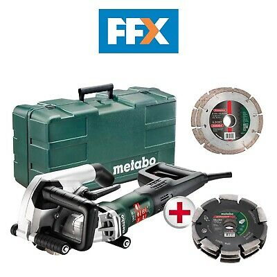 Metabo UK604040611 110v 40mm Wall Chaser 2x125mm Blades with Triple cut Disc