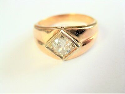 Ring Gold 585 mit Diamant, 4,62 g