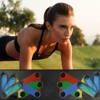 9 in 1 Push Up Rack Board System Fitness Workout Train Gym Exercise Pushup Stand
