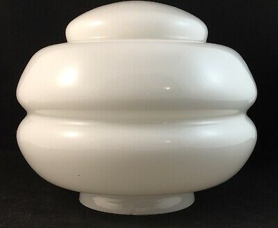 Small White Beehive Stepped Art Deco Glass Light Lamp Shade Suit A Diana Lamp