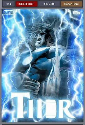 Topps Marvel Collect: Thorsday Ultimate Thor Super Rare Motion 750cc Digital