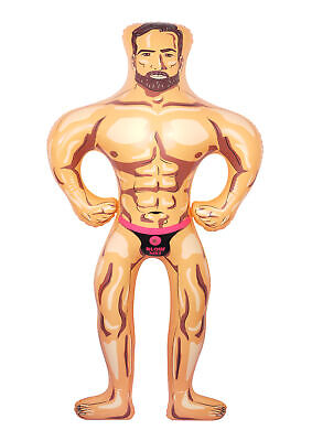 Inflatable Male Hunk Doll - 150cm - Blow Up Man Hen Do Stag Night Novelty Prank