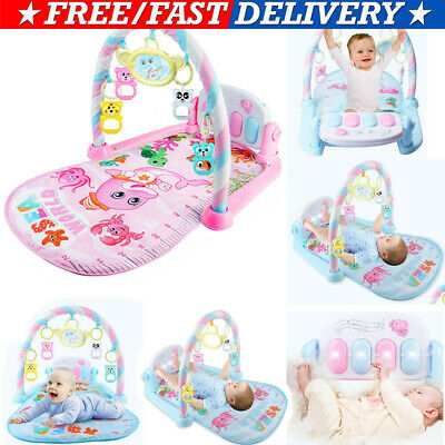 UK 3 in 1 Baby Gym Play Mat Lay/&Play Fitness Music/&Lights Fun Piano Boy Girl#HOT