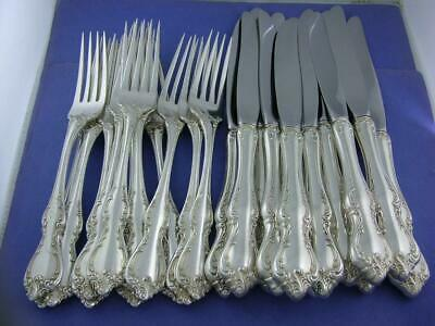 """24pc Sterling TOWLE Dinner Size 7 7/8"""" Forks & 9 1/2"""" Knives DEBUSSY ~no mono"""