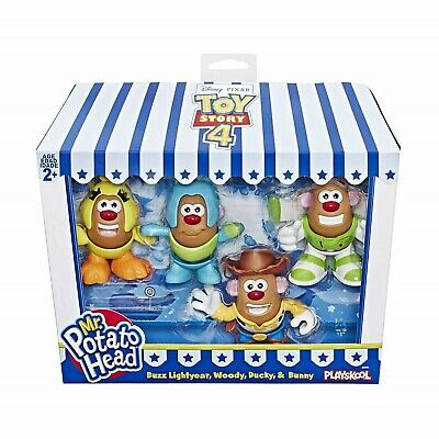 Toy Story 4 Mr Potato Head Figure Set Disney Buzz Woody Ducky Bunny Toy Figures