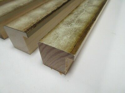SALE 4 x 1 m of Traditional Cream & Gold Wooden Picture Frame Moulding 35mm
