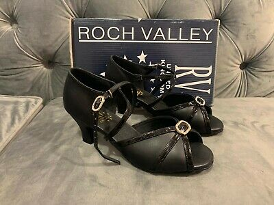 Roch Valley RV805 Black Ballroom Shoe UK 4