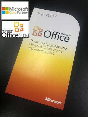 Microsoft Office 2010 Home and Business (Original Product Key Card)