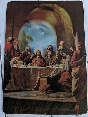 Vintage Lenticular 25 Postcard Lot Last Supper MultiMotion Jesus Easter UNPOSTED